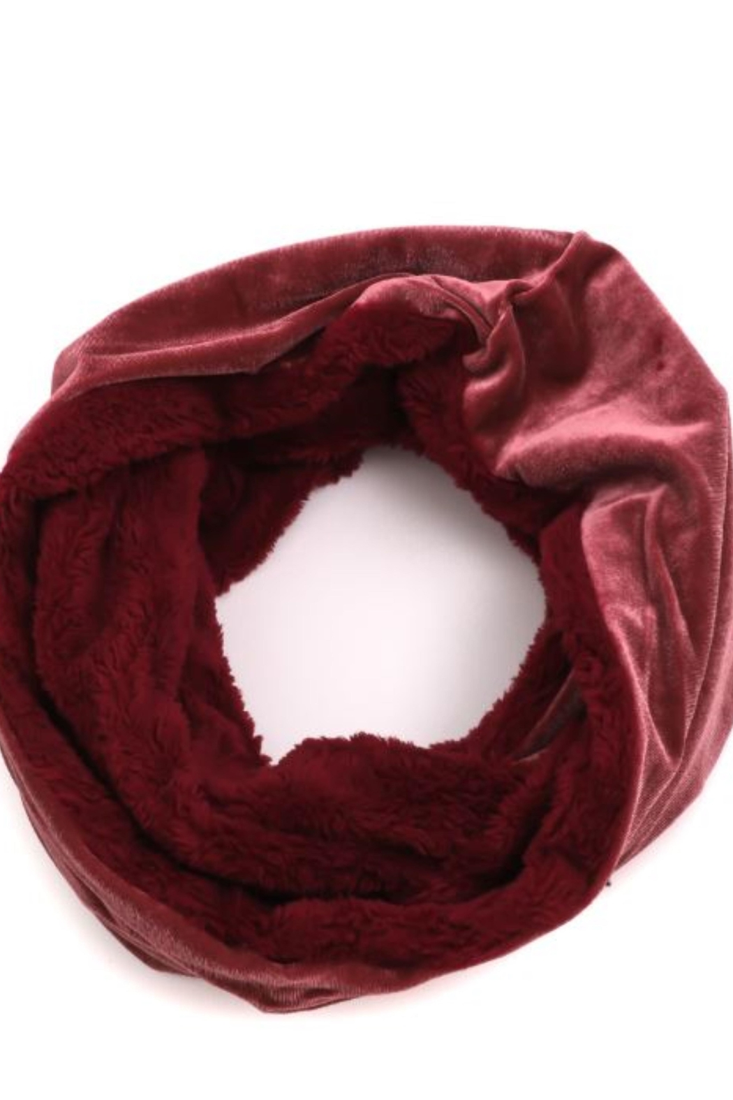 Fame Accessories Faux Fur Velvet Infinity Scarf - Main Image