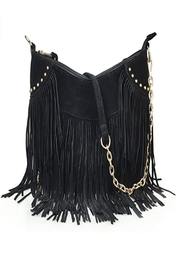 Fame Accessories Faux Suede Bag - Product Mini Image
