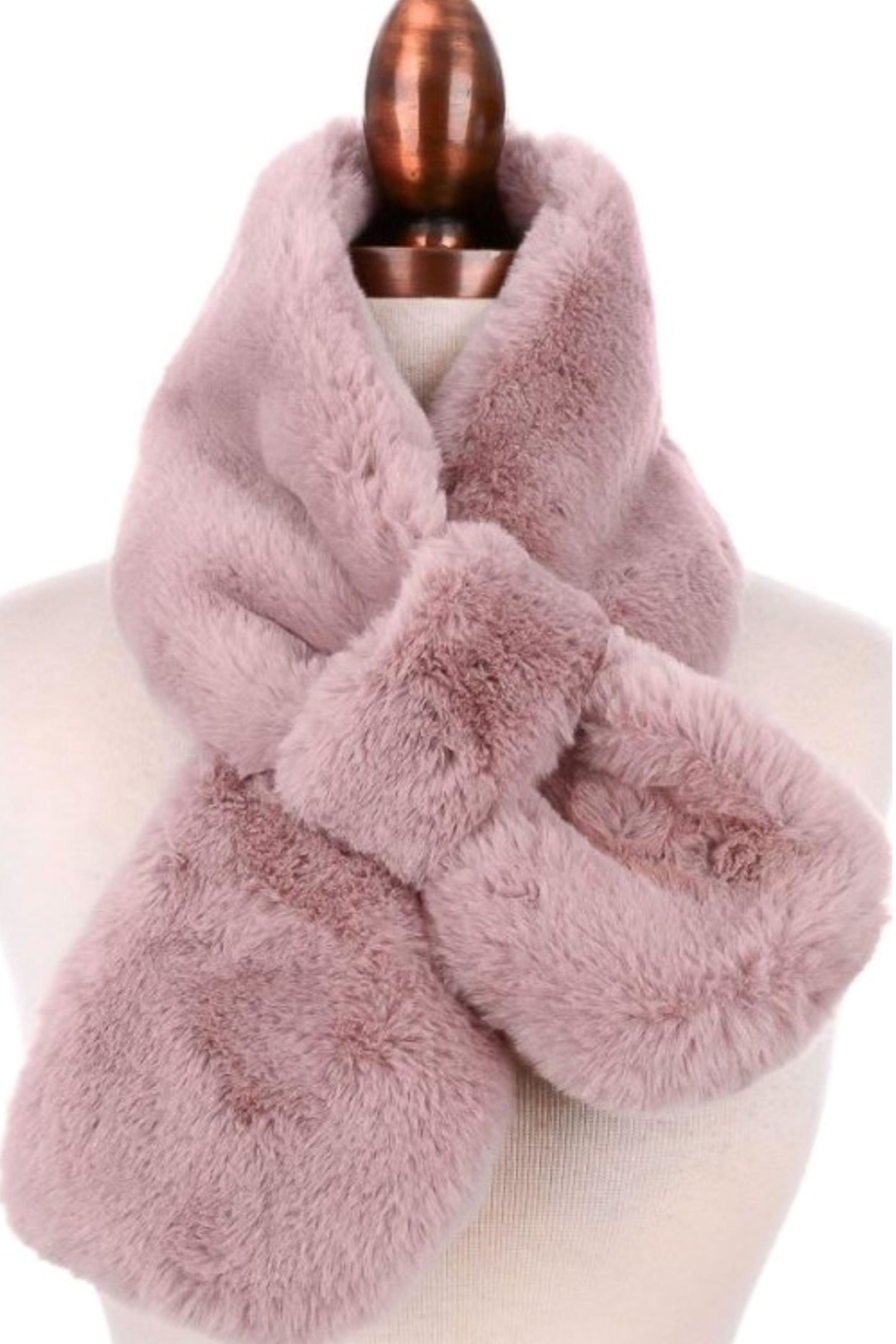 Fame Accessories Fur Pull Thru Scarf - Main Image