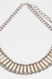 Fame Accessories Kindness Faux Ivory Necklace - Front full body