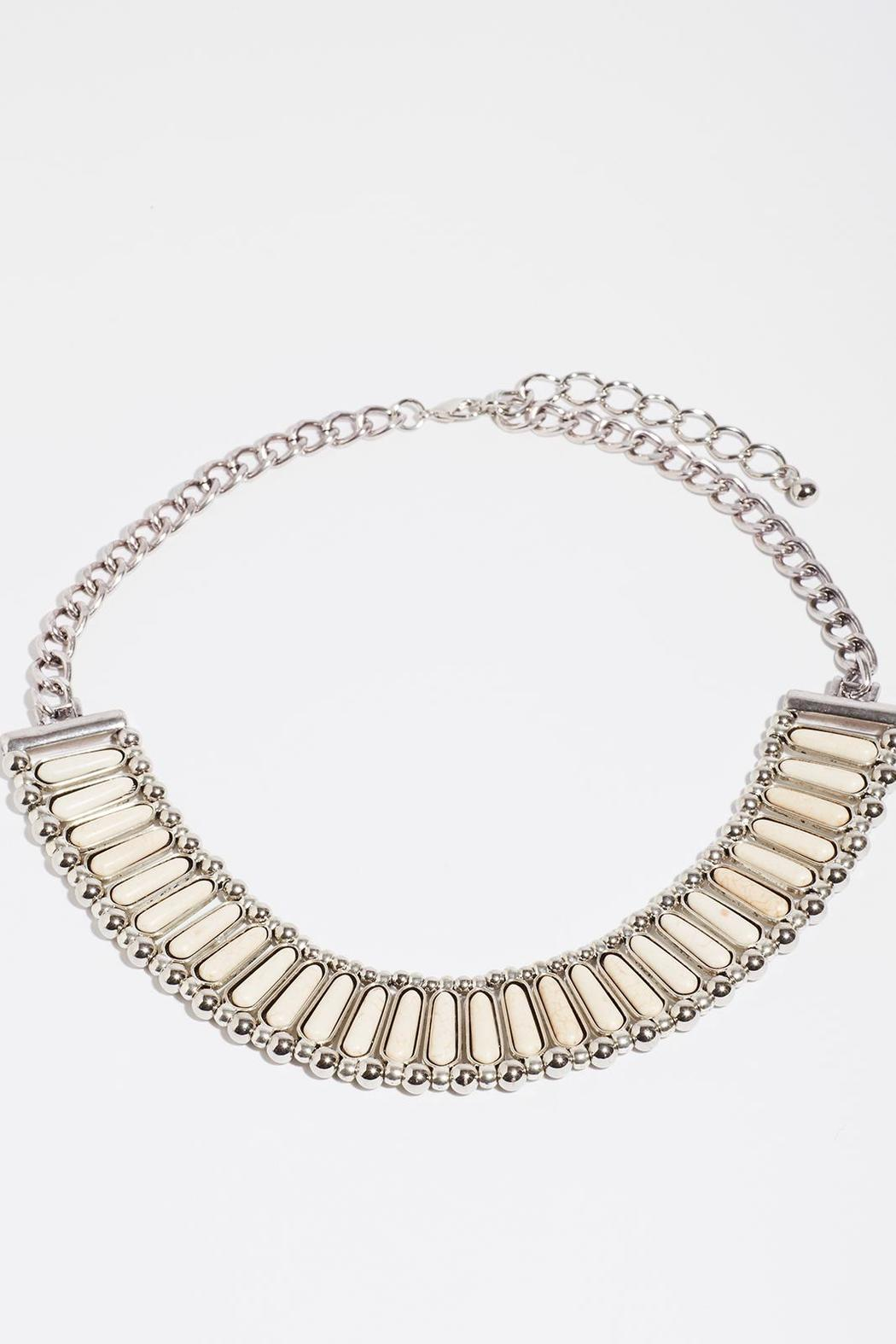 Fame Accessories Kindness Faux Ivory Necklace - Main Image