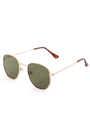Fame Accessories Metallic Horn Tail Sunglasses - Product Mini Image