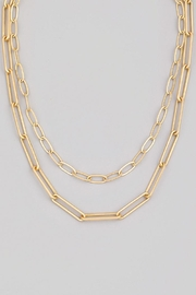 Fame Accessories Paperclip Chain Link Necklace - Product Mini Image