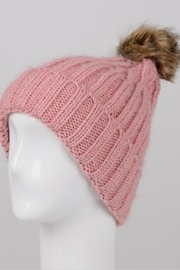Fame Accessories Pompom Shimmer Beanie - Product Mini Image