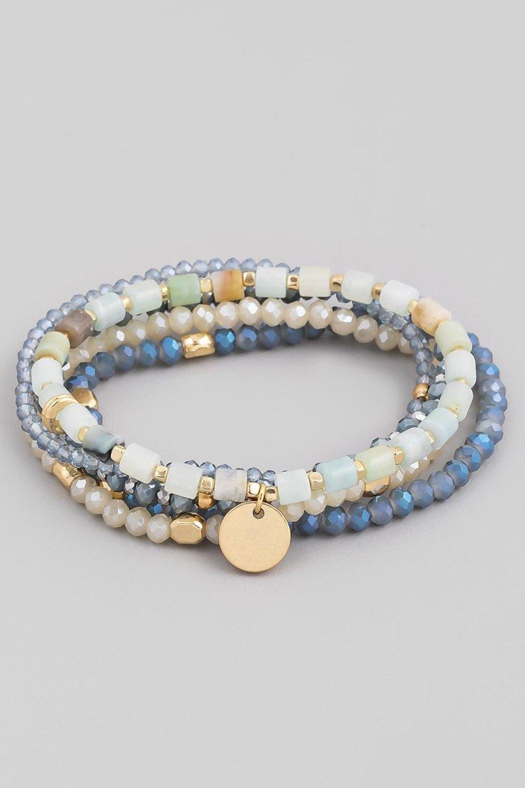 Fame Accessories Serene Waters Stackable Beaded Bracelet Set - Main Image