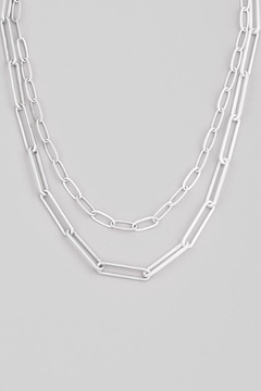 Shoptiques Product: Silver Paperclip Chain Link Necklace