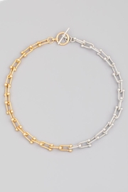 Fame Accessories Two Tone Chain Link Necklace - Product Mini Image