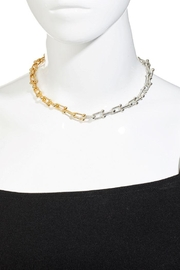 Fame Accessories Two Tone Chain Link Necklace - Front full body