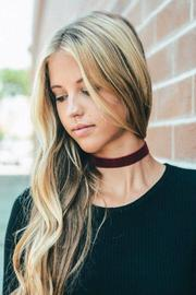 Fame Accessories Velvet Choker - Front cropped