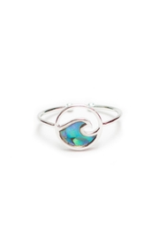 Fame Accessories Wave Ring - Front cropped