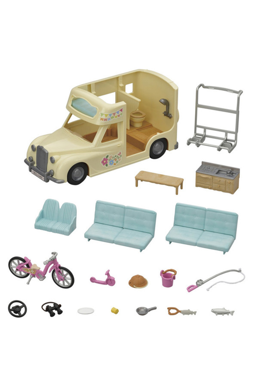 Calico Critters Family Campervan - Front Full Image