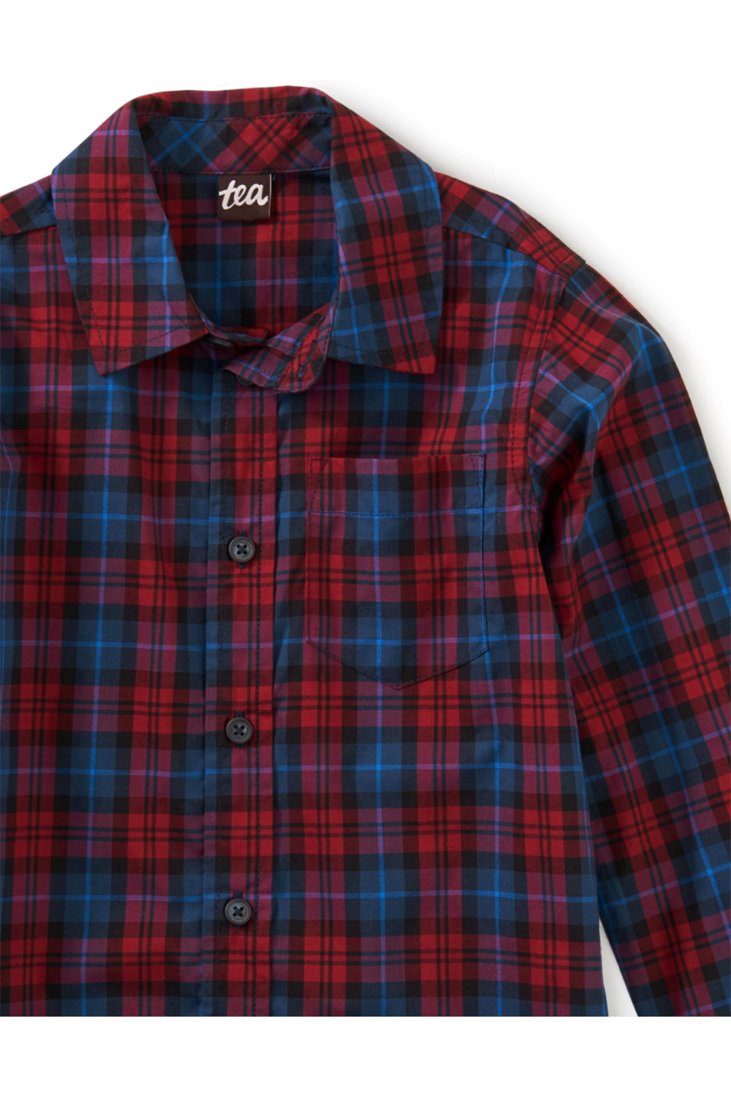 Tea Collection Family Plaid Button Shirt - Front Full Image