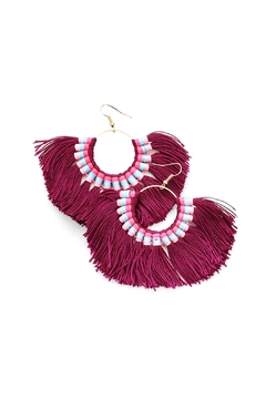 Wild Lilies Jewelry  Fan Tassel Earrings - Product List Image