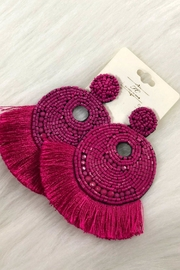 Izzie's Boutique Fan Tassel Earrings - Product Mini Image