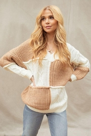 FANCO Color Block Knitted Soft Sweater - Product Mini Image