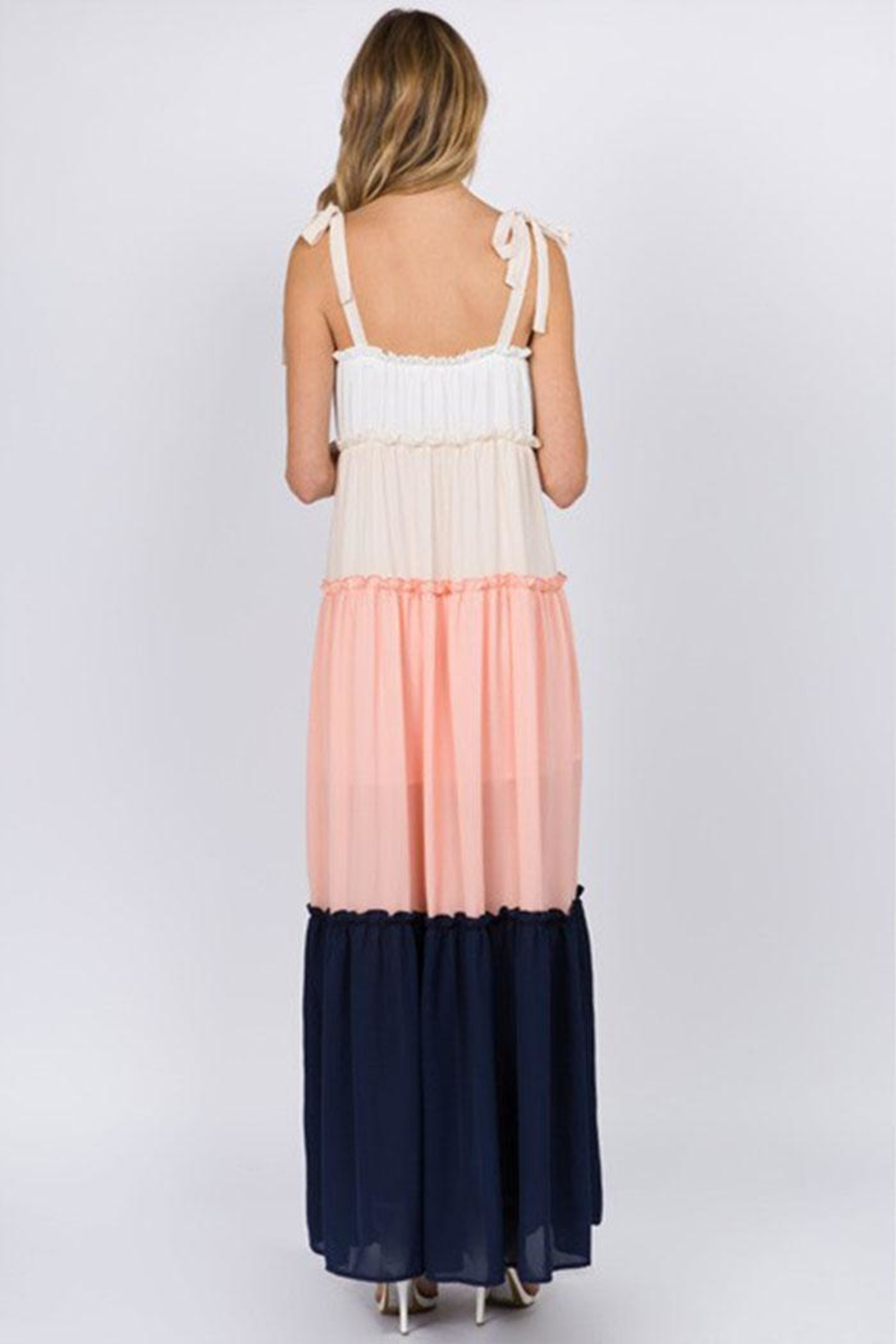 FANCO Color-Block Maxi Dress - Back Cropped Image