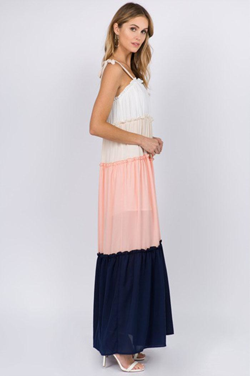 FANCO Color-Block Maxi Dress - Side Cropped Image