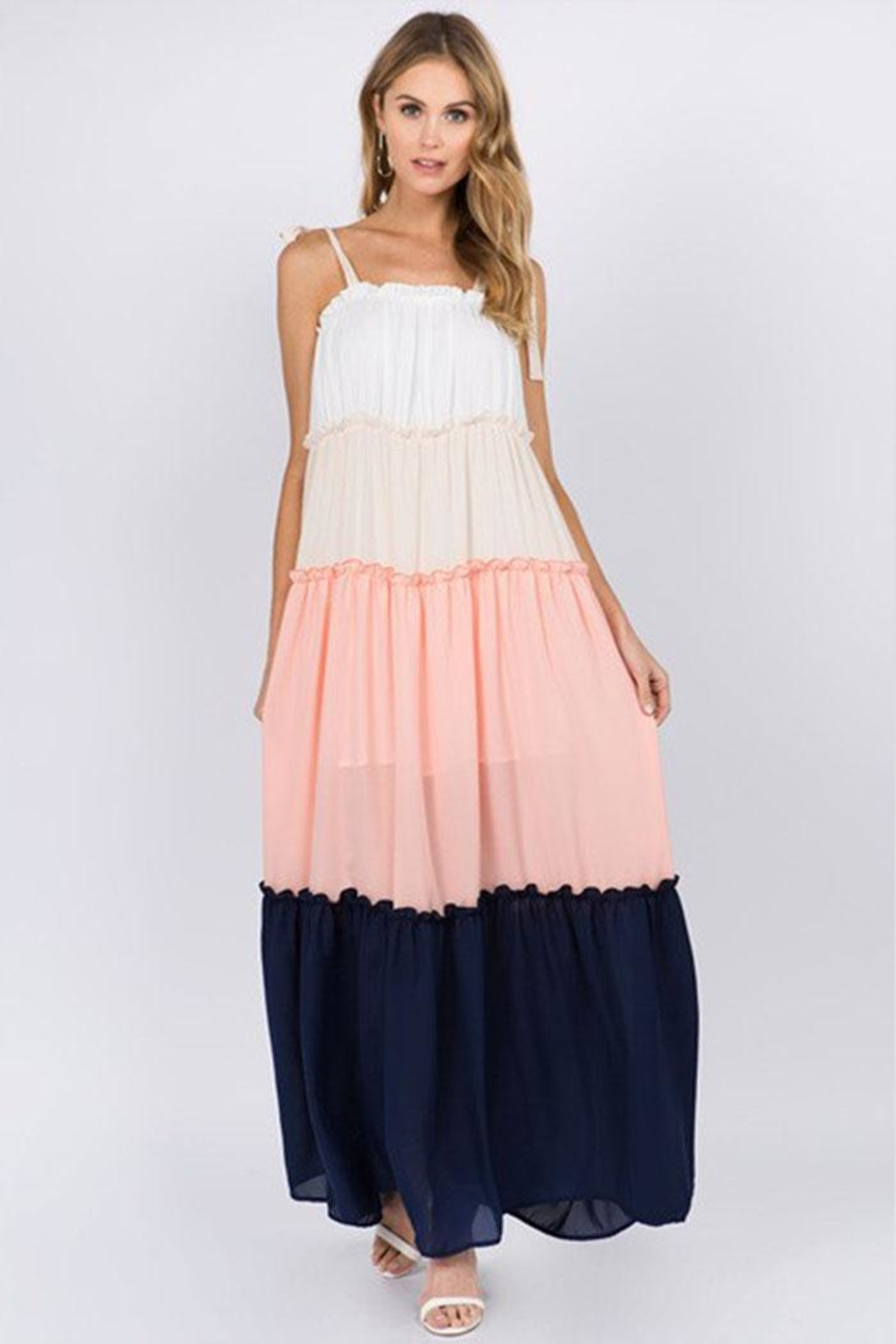 FANCO Color-Block Maxi Dress - Front Cropped Image