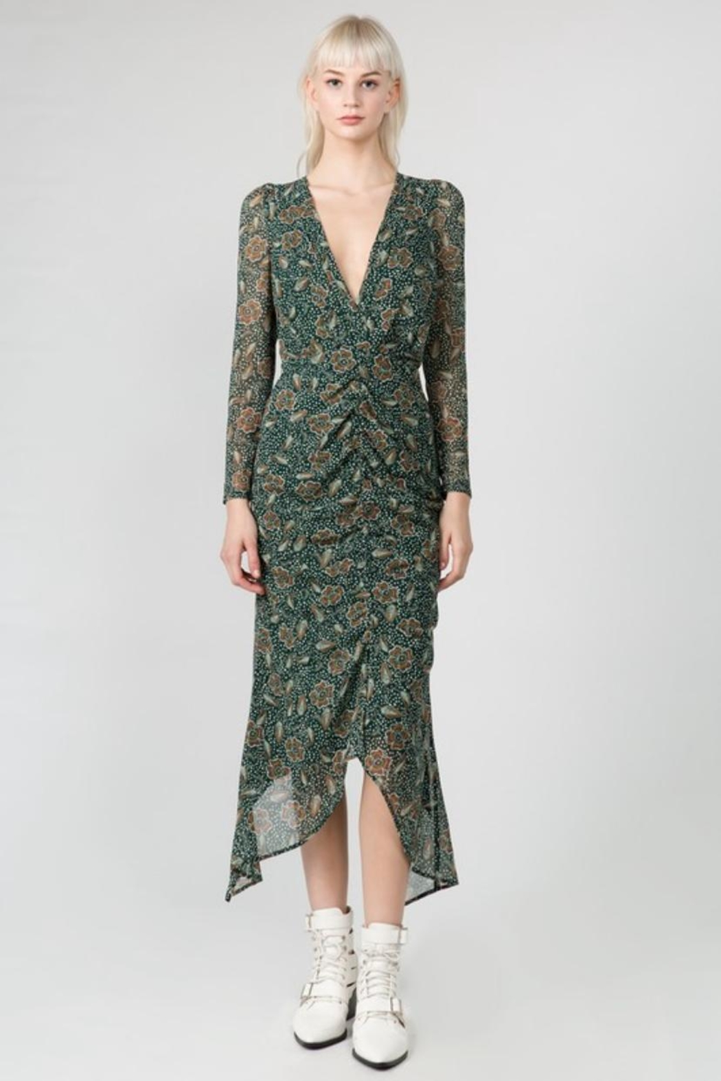 FANCO Floral Midi Dress - Front Cropped Image