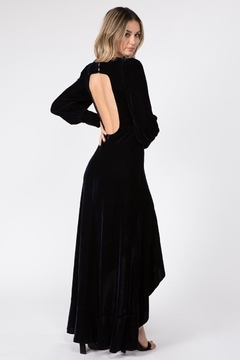 FANCO Navy Velvet Maxi-Dress - Alternate List Image