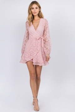 FANCO Pink Lace Dress - Product List Image
