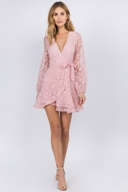 FANCO Pink Lace Dress - Front cropped