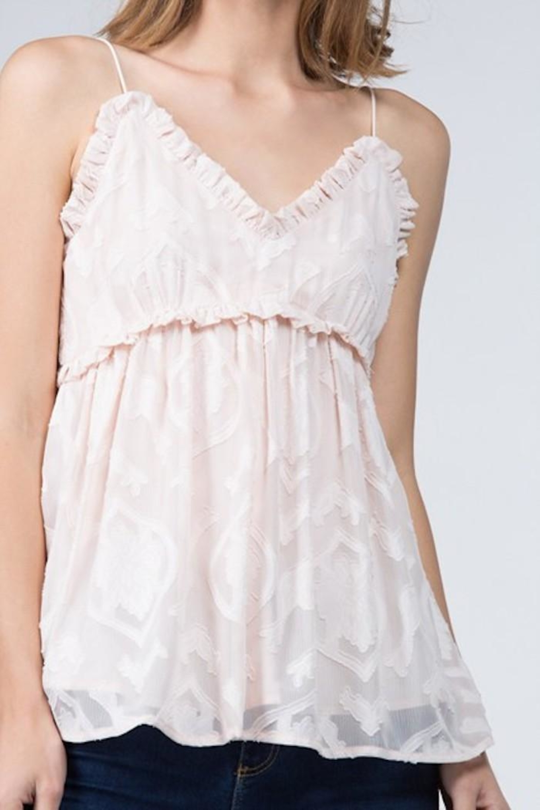 FANCO Ruffle Lace Cami - Front Full Image