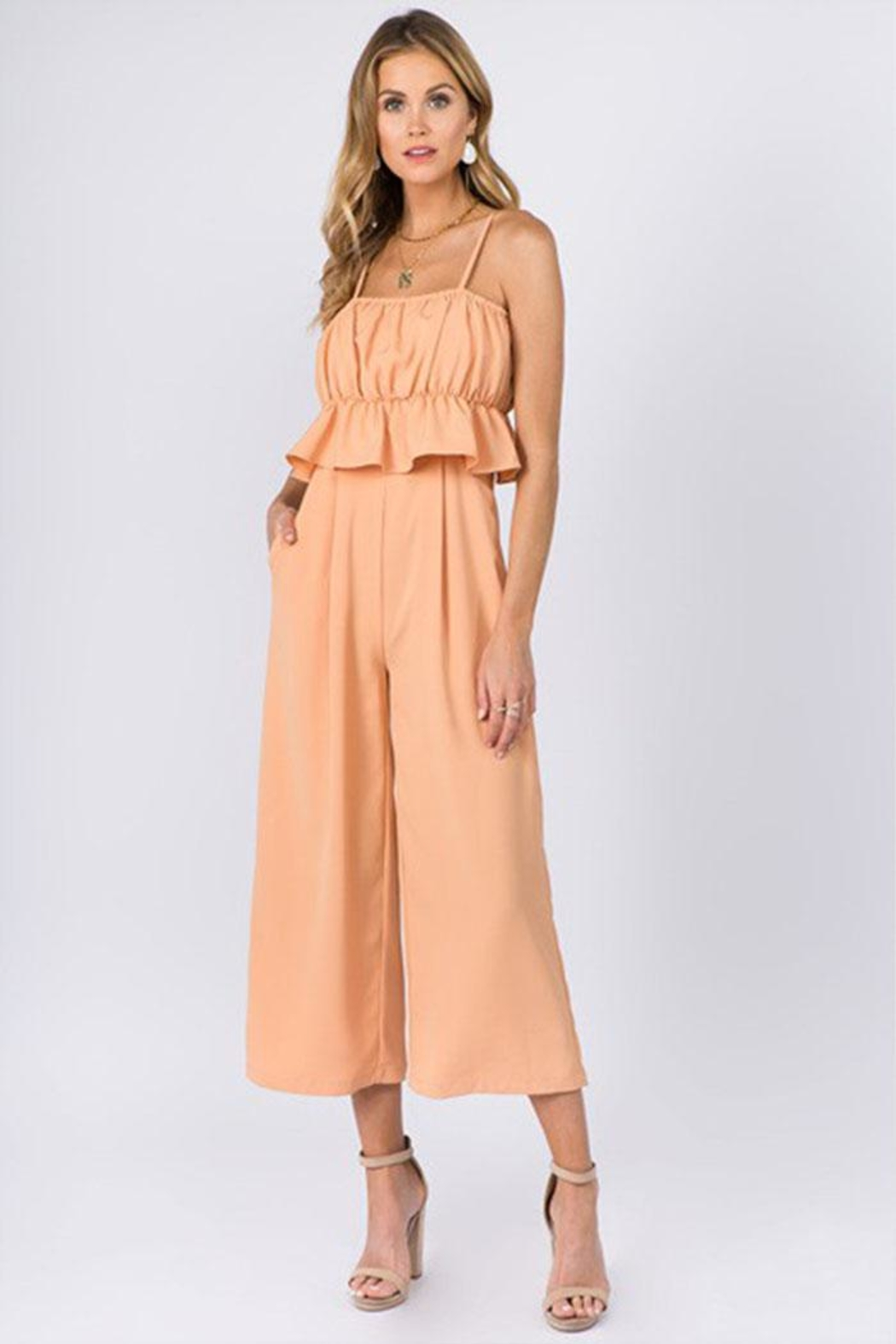 FANCO Ruffle Waist Jumpsuit - Front Cropped Image
