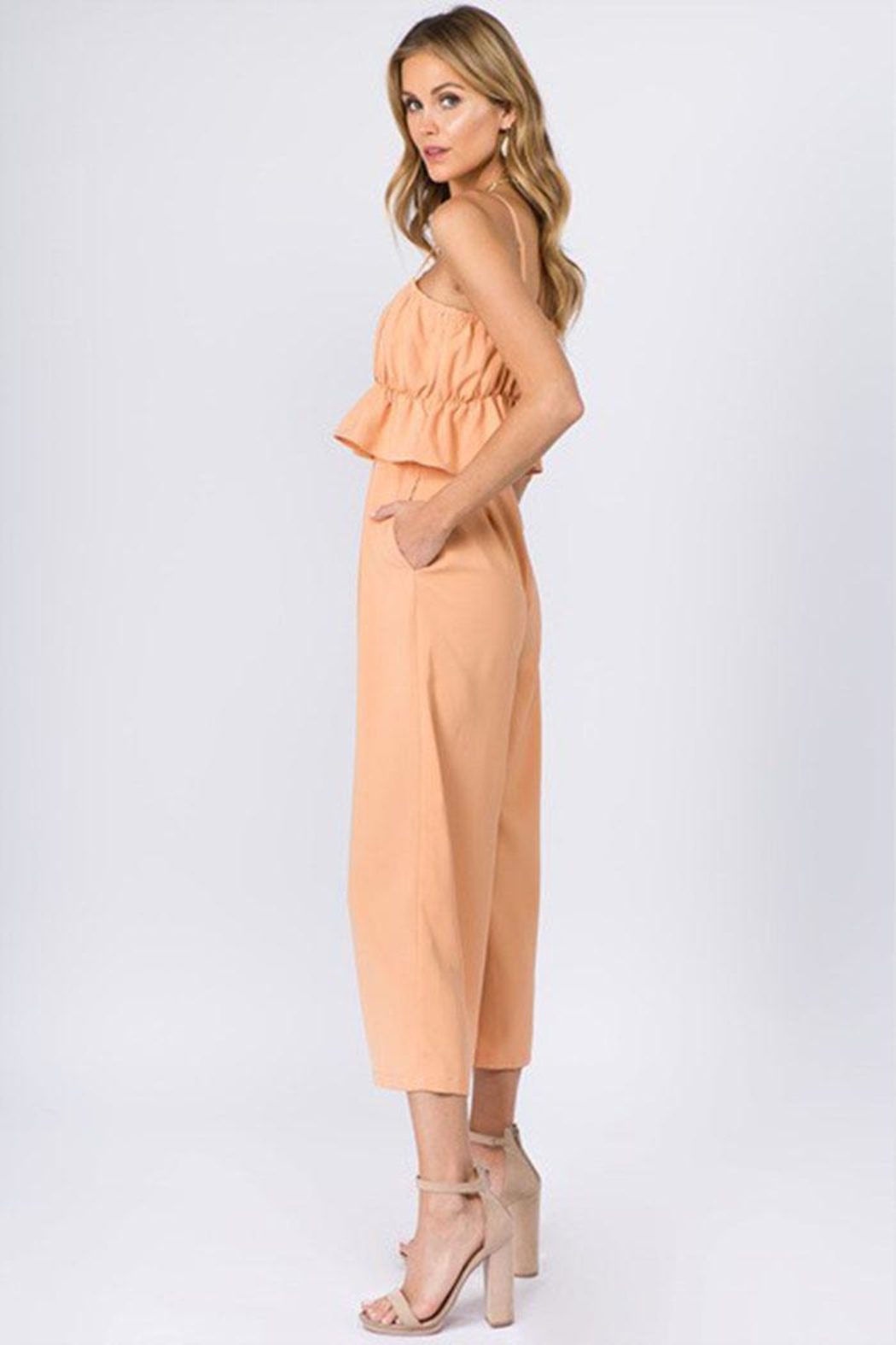 FANCO Ruffle Waist Jumpsuit - Front Full Image