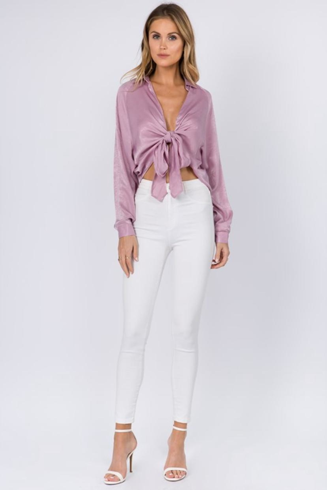 FANCO Tie Front Top - Front Full Image