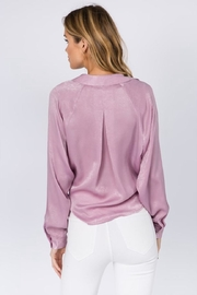 FANCO Tie Front Top - Back cropped