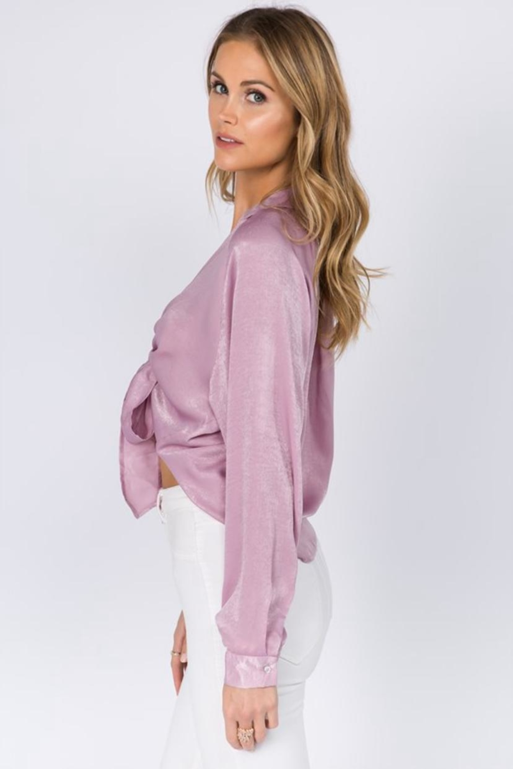 FANCO Tie Front Top - Side Cropped Image