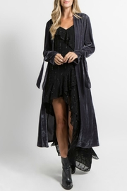 FANCO Velvet Trench Cardigan - Product Mini Image
