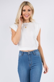 FANCO White Crop Top - Product Mini Image