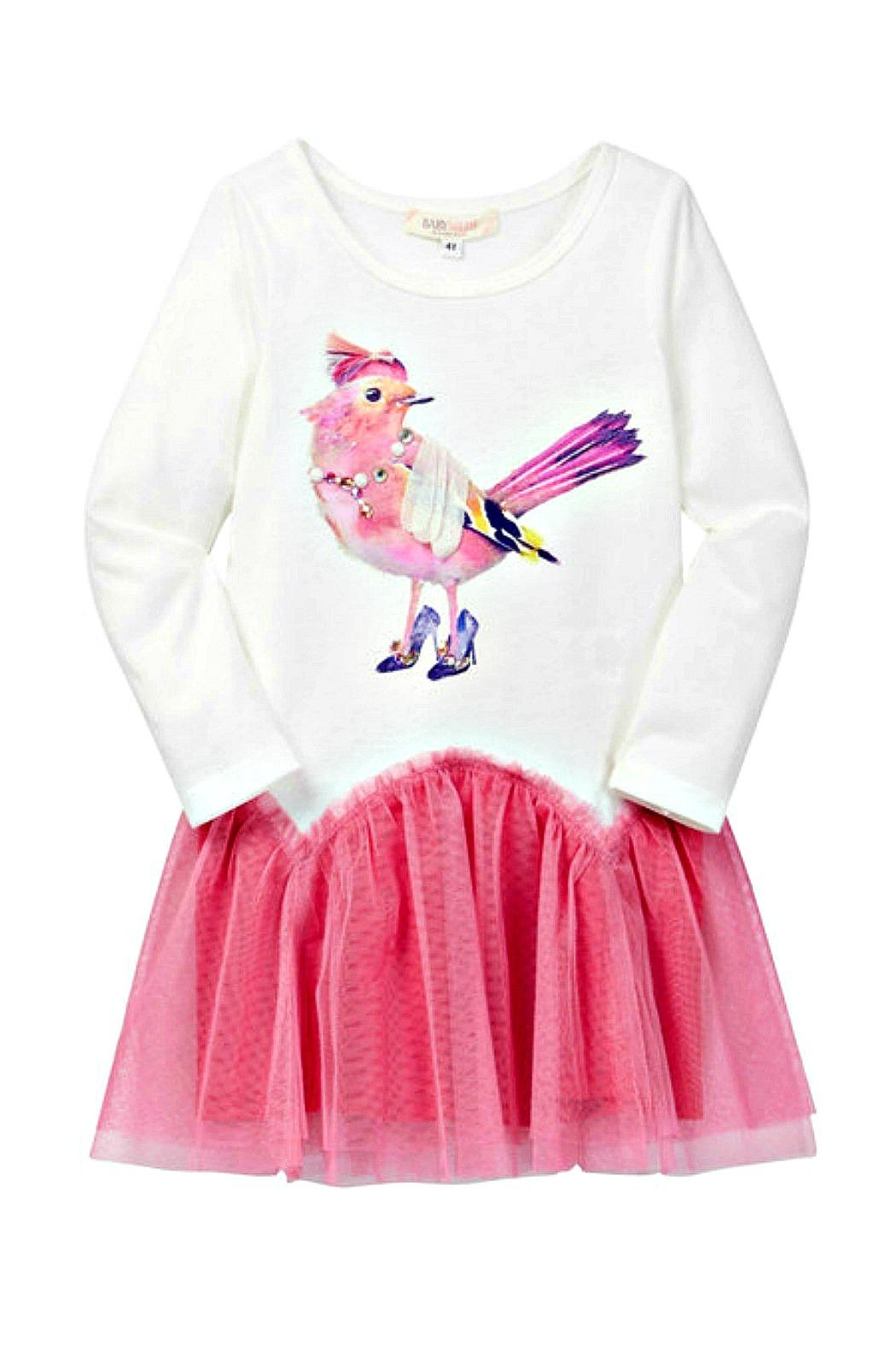 Baby Sara Fancy-Bird Drop-Waist Dress - Main Image
