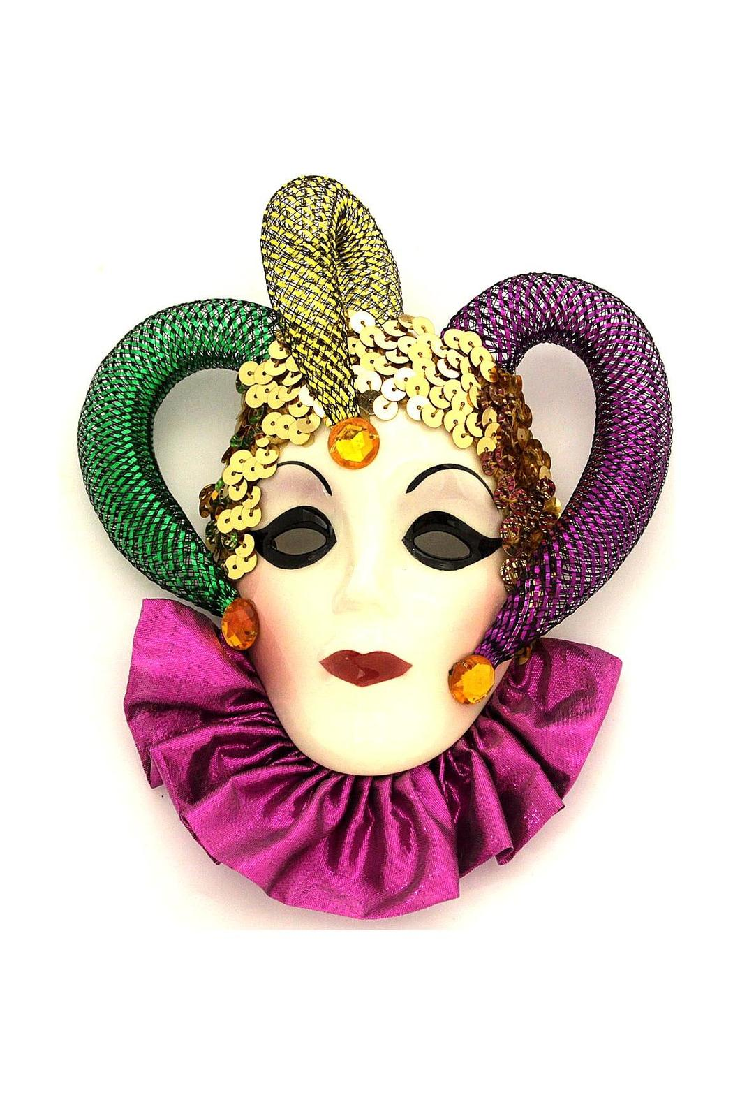 Fancy Faces Jester Mini Mask - Main Image