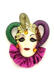 Fancy Faces Jester Mini Mask - Front cropped
