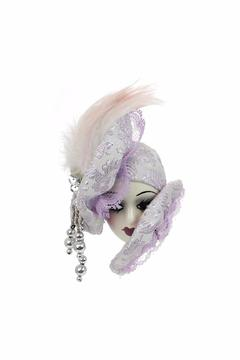 Fancy Faces Lady Face Pin Lavender - Product List Image