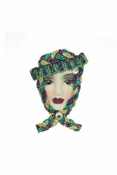 Fancy Faces Lady Mini Pin - Alternate List Image