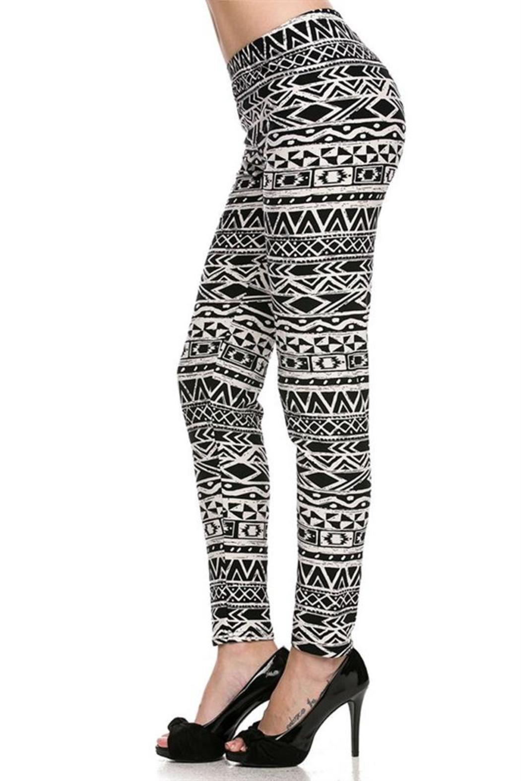 Fancy Fans Brushed Tribal Legging From Vermont By Avenue A