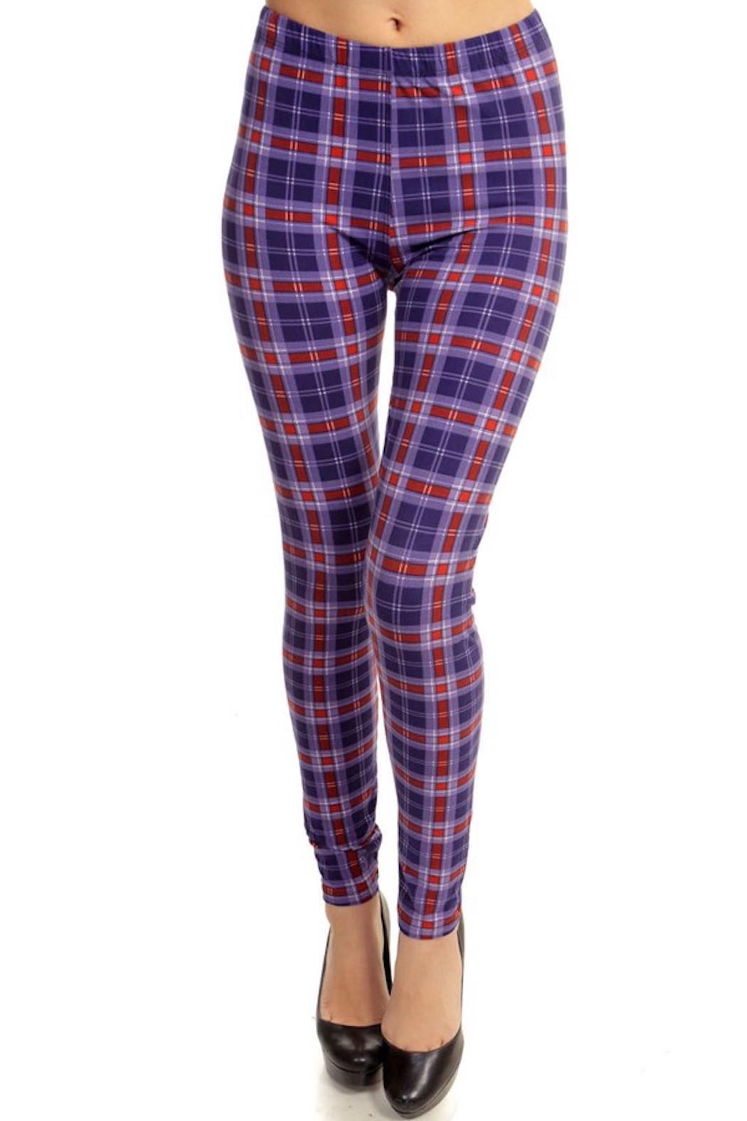Fancy Fans Plaid Print Legging From Pennsylvania By Empire