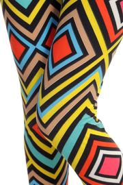 Fancy USA Geo Print Leggings - Side cropped