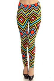 Fancy USA Geo Print Leggings - Front cropped