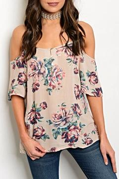 Fancy USA Pink Floral Blouse - Product List Image