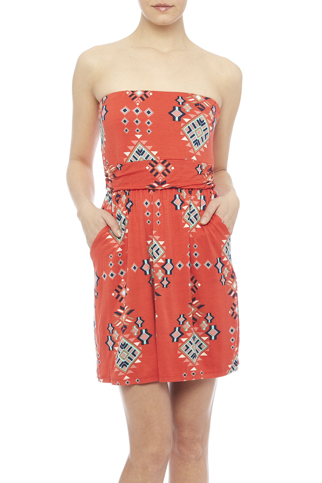 Fantastic Fawn Orange Pocket Dress - Main Image