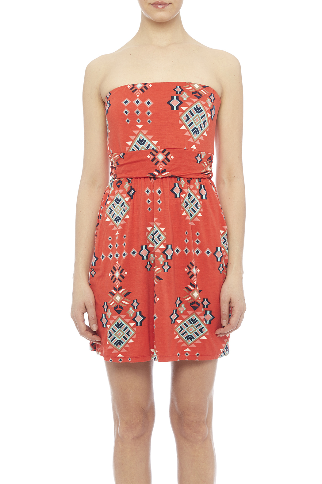 Fantastic Fawn Orange Pocket Dress - Side Cropped Image
