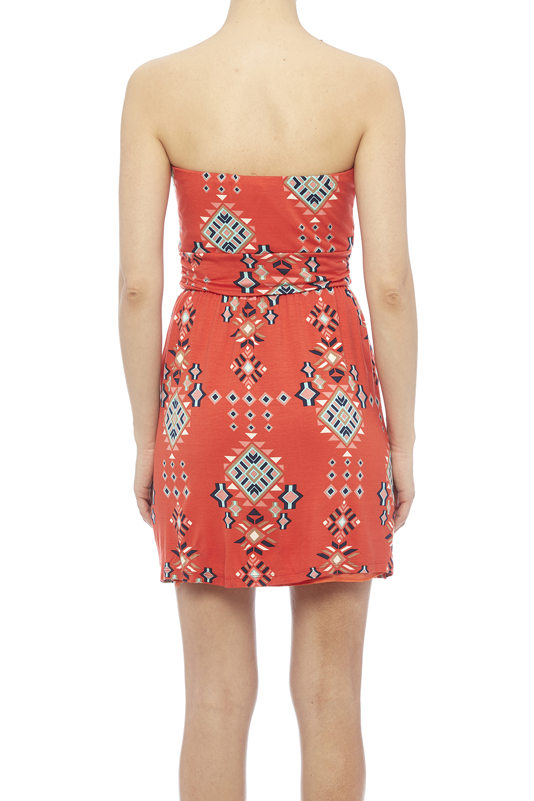 Fantastic Fawn Orange Pocket Dress - Back Cropped Image