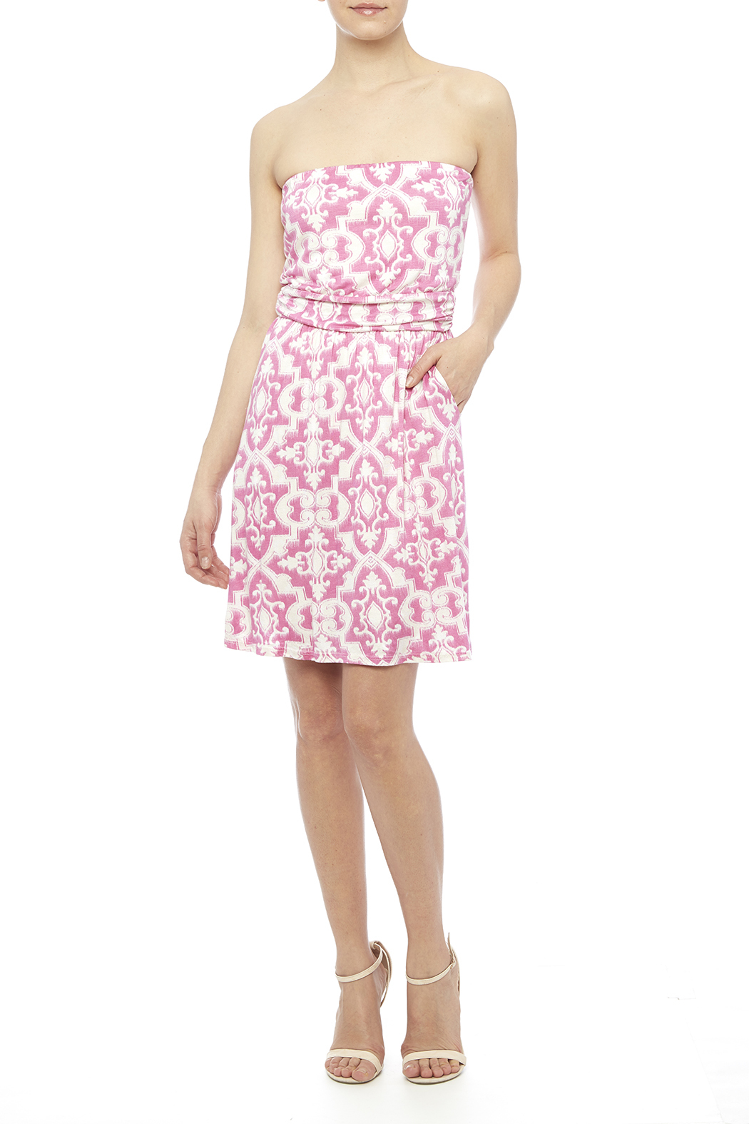 Fantastic Fawn Pink Pocket Dress - Front Full Image