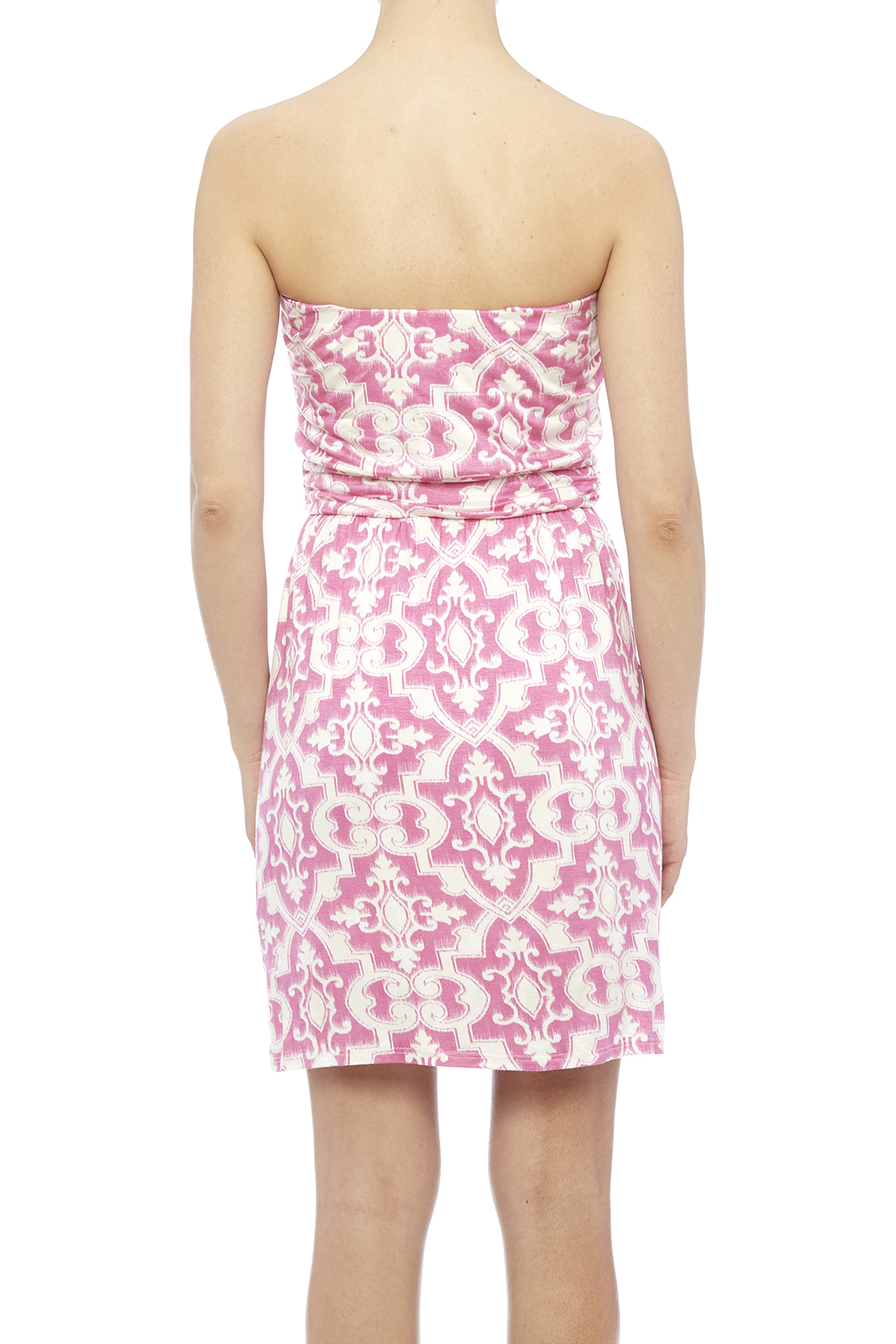 Fantastic Fawn Pink Pocket Dress - Back Cropped Image