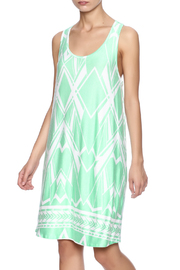 Fantastic Fawn Printed Mint Dress - Product Mini Image